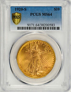 Click now to see the BUY IT NOW Price! 1920 S ST. GAUDENS $20 PCGS MS 64