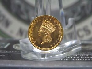 1862 GOLD ONE DOLLAR LIBERTY G$1 1  EAST COAST COIN & COLLECTABLES INC.