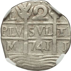 Click now to see the BUY IT NOW Price! 741 VENEZUELA CARACAS SILVER 2 REALES  MACUQUINAS  PROVISIONAL FANTASY NGC VF35