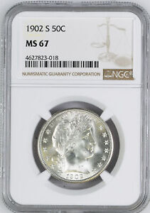 Click now to see the BUY IT NOW Price! 1902 S BARBER 50C NGC MS 67