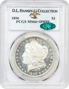 Click now to see the BUY IT NOW Price! 1896 $1 PCGS/CAC MS66  DMPL   MORGAN SILVER DOLLAR   BLAZING WHITE DMPL