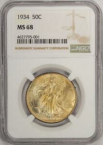 Click now to see the BUY IT NOW Price! 1934 WALKING LIBERTY 50C NGC MS 68