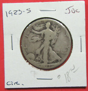 1923 S 50C WALKING LIBERTY HALF DOLLAR. CIRCULATED.  520061