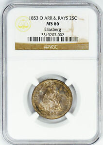 Click now to see the BUY IT NOW Price! 1853 O LIBERTY SEATED 25C NGC MS 66