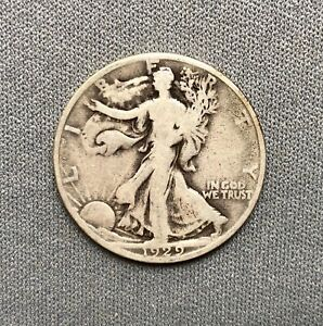 1929 D WALKING LIBERTY HALF   WHEX36