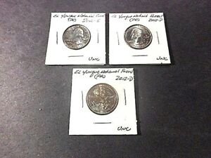 2012 AMERICA THE BEAUTIFUL QUARTERS EL YUNQUE N. F.. SET OF 3 P D S UNC COND.