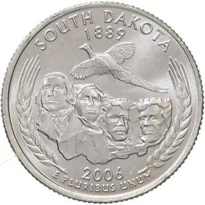 2006 P STATE QUARTER SOUTH DAKOTA BU CN CLAD US COIN