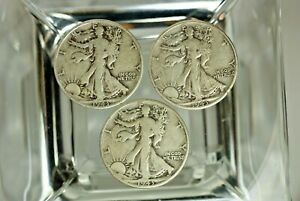 1943 1943 S & 1943 D WALKING LIBERTY HALF DOLLAR   AC 133