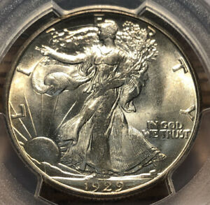 1929 D WALKING LIBERTY HALF DOLLAR PCGS MS 65
