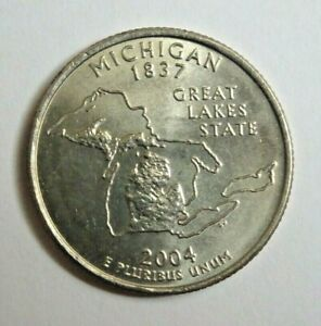 USA 2004P MICHIGAN STATE QUARTER 25 CENT COIN