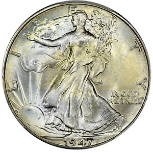 1947 D PCGS MS67 WALKING LIBERTY HALF DOLLAR SUPERB GEM   LOOKS MS67    LOW POP