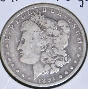 1891 O G GOOD MORGAN SILVER DOLLAR $1 COIN