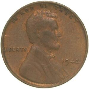 1942 LINCOLN WHEAT CENT ABOUT UNCIRCULATED PENNY AU