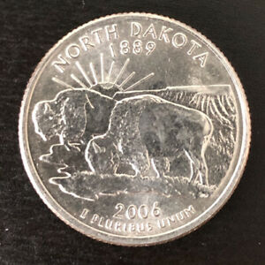 2006 P NORTH DAKOTA STATE  ND  QUARTER UNCIRCULATED U.S. MINT   STATE QUARTERS
