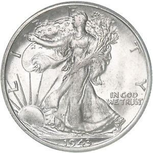 1943 S WALKING LIBERTY HALF DOLLAR 90  SILVER UN US COIN