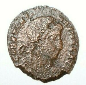 CONSTANTIUS II SON OF CONSTANTINE THE GREAT. ANCIENT ROMAN COIN CAMP GATE. A676