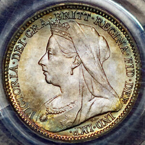 GREAT BRITIAN 1899 PCGS MS68 MAUNDY 3 PENCE INCREDIBLE ONE OF A KIND