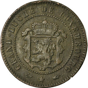 [881194] COIN LUXEMBOURG WILLIAM III 5 CENTIMES 1855 PARIS VF 30 35