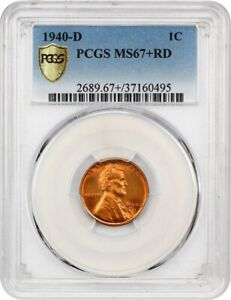 1940 D 1C PCGS MS67 RD   LINCOLN CENT