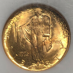 1926 $2.5 GOLD AMERICA SESQUICENTENNIAL NGC MS 64