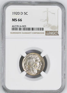 Click now to see the BUY IT NOW Price! 1920 D BUFFALO 5C NGC MS 66