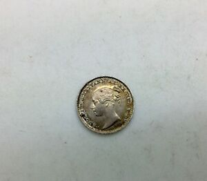GREAT BRITAIN 1842    MAUNDY 1 PENCE VICTORIA YOUNG HEAD LUSTROUS COIN