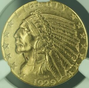 Click now to see the BUY IT NOW Price! 1929 INDIAN HALF EAGLE $5 GOLD COIN NGC UNC DETAILS BU  KD