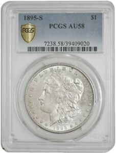 1895 S MORGAN DOLLAR $ AU58 PCGS SECURE 942747 9