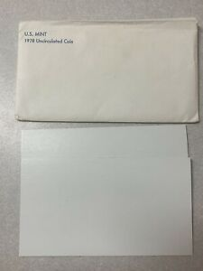 1978 US MINT SET  ENVELOPE ONLY