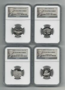 Click now to see the BUY IT NOW Price! LOT OF 4    2004 S & 2005 S NGC PF70 ULTRA CAMEO JEFFERSON NICKEL 5C