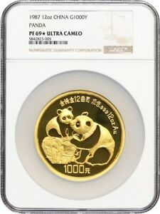 Click now to see the BUY IT NOW Price! CHINA: 1987 1000Y NGC PROOF 69 UCAM PANDA  STAR    12OZ GOLD