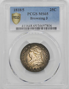 Click now to see the BUY IT NOW Price! 1818/5 CAPPED BUST 25C PCGS MS 65