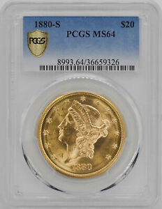 Click now to see the BUY IT NOW Price! 1880 S LIBERTY HEAD $20 PCGS MS 64