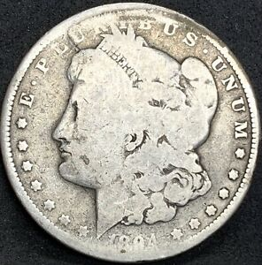 1894 P MORGAN SILVER DOLLAR AG DETAILS  KEY DATE COIN 110 000 MINTED