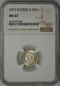 Click now to see the BUY IT NOW Price! 1873 THREE CENT 3CN MS67 NGC 942130 1