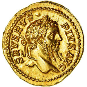 Click now to see the BUY IT NOW Price! [489296] COIN SEPTIMIUS SEVERUS AUREUS 202 210 ROMA GOLD RIC:278A