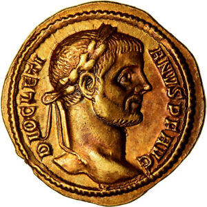 Click now to see the BUY IT NOW Price! [489297] COIN DIOCLETIAN AUREUS 289 290 TREVERI GOLD