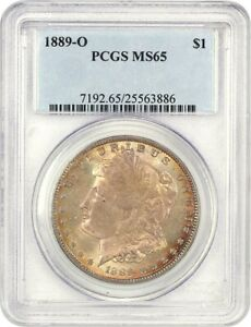 1889 O $1 PCGS MS65   PRETTY AND ORIGINAL   MORGAN SILVER DOLLAR