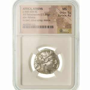 Click now to see the BUY IT NOW Price! [489390] MONNAIE ATTIQUE ATHNES TTRADRACHME ATHNES GRADE NGC MS
