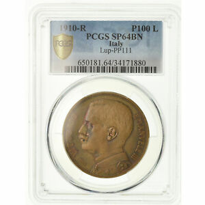 Click now to see the BUY IT NOW Price! [489379] COIN ITALY VITTORIO EMANUELE III 100 LIRE 1910 ROME ESSAI PCGS