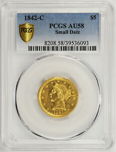 Click now to see the BUY IT NOW Price! 1842 C LIBERTY $5 PCGS AU 58