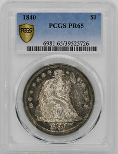 Click now to see the BUY IT NOW Price! 1840 LIBERTY SEATED S$1 PCGS PR 65