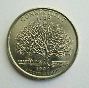 USA 1999P CONNECTICUT STATE QUARTER 25 CENT COIN