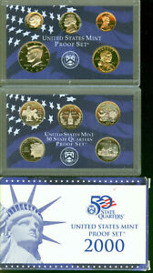2000 UNITED STATES PROOF SET IN ORIGINAL BOX WITH COA