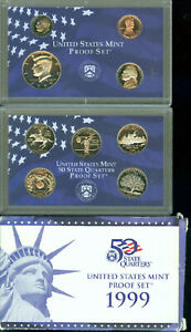 1999 UNITED STATES PROOF SET IN ORIGINAL BOX WITH COA