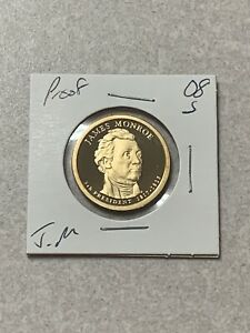 2008 S JAMES MONROE PRESIDENTIAL DOLLAR PROOF
