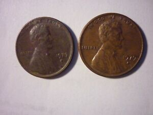 1979 D LINCOLN MEMORIAL ONE CENT / PENNY   TWO  GREAT COINS FOR YOUR COLLECTION