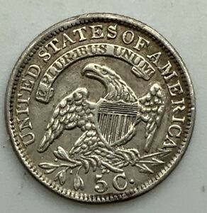 Click now to see the BUY IT NOW Price! 1834 CAPPED BUST HALF DIME NICE GRADE COIN EX MOUNT EXPERTLY REMOVED