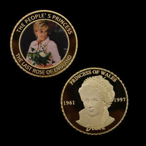 GOLD COIN HOLIDAY GIFTS PRINCESS DIANA COMMEMORATIVE METAL COIN FOR COLLECTION