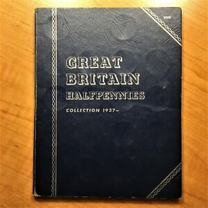 Click now to see the BUY IT NOW Price! 34 COIN TYPE SET GREAT BRITAIN HALFPENNIES COLLECTION 1937  VINTAGE WHITMAN